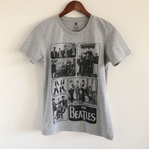 The Beatles Gray Graphic Tee L Kids